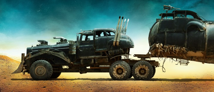 Side view of the Big Rig of Mad Max: Fury Road