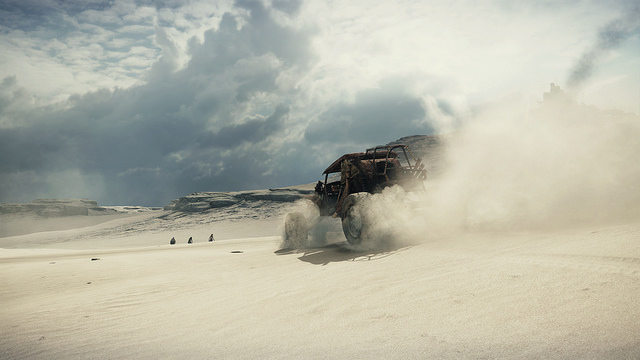 Desert view of the Mad Max video game